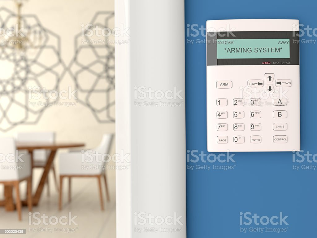 Home Security System Keypad stock photo