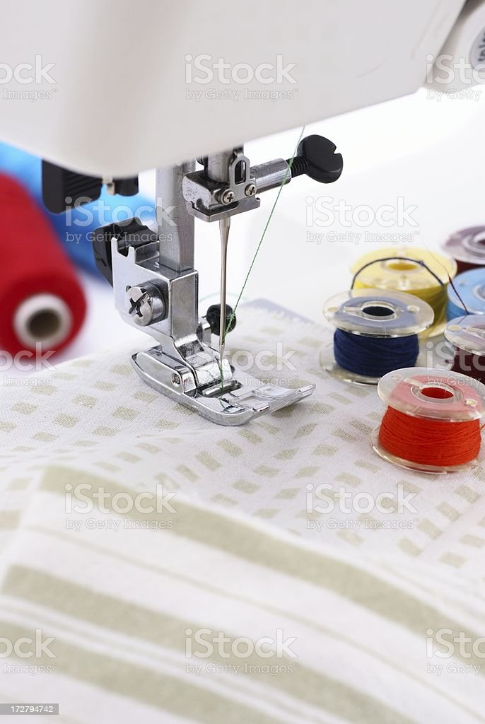 Home sewing royalty-free stock photo