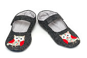 Home slippers. owls image