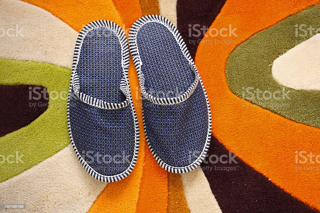 Home slippers stock photo