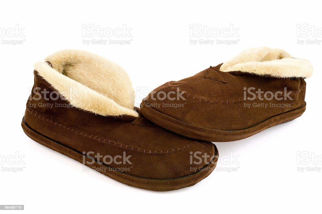 Home slippers royalty-free stock photo