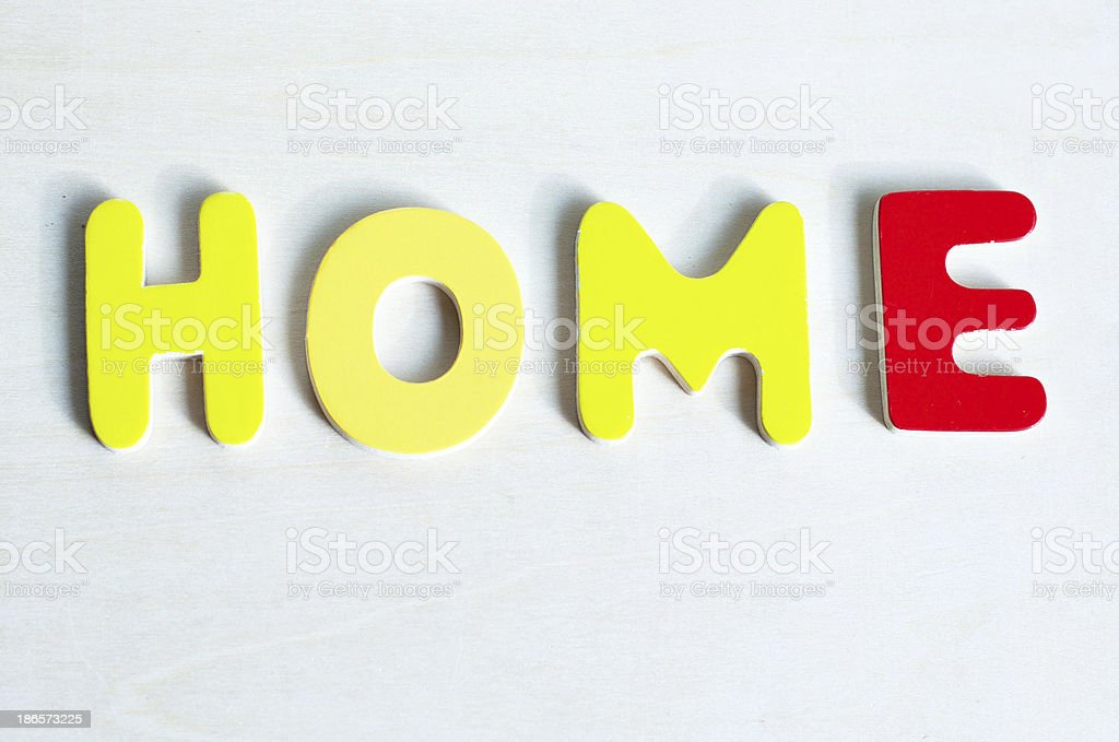 Home Spelled royalty-free stock photo