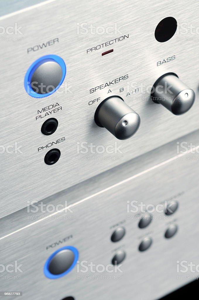 Home stereo stock photo