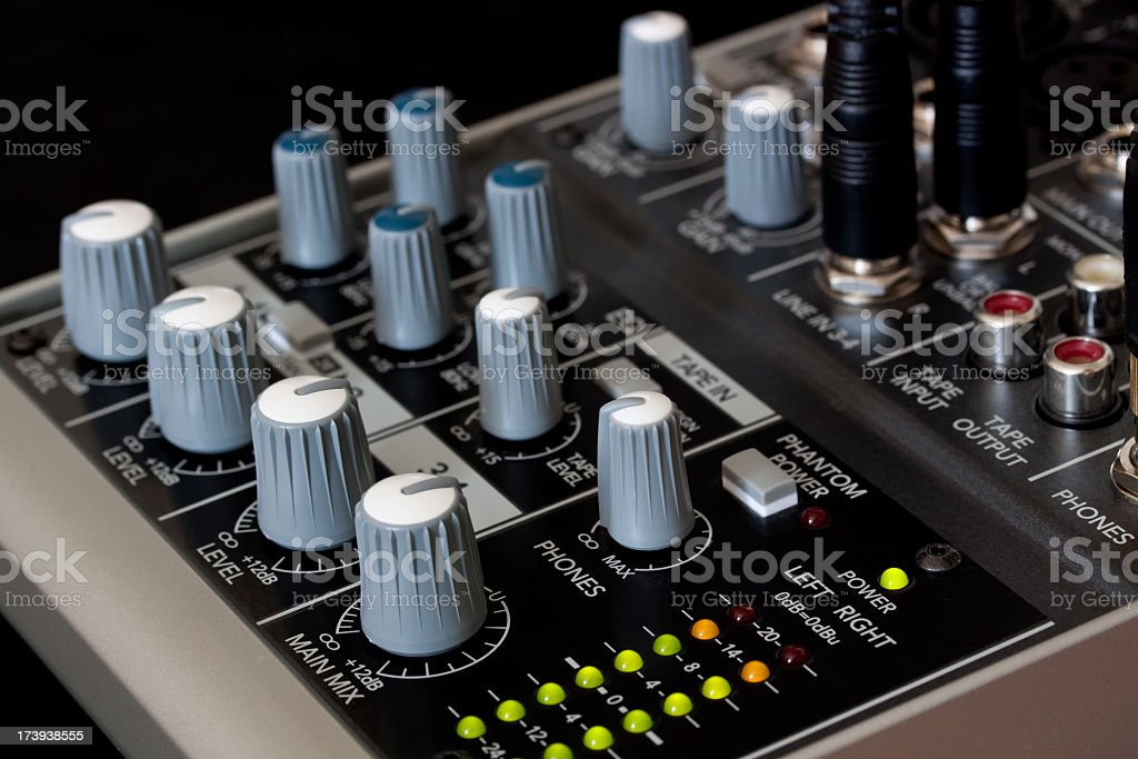 Home Studio Mixer stock photo