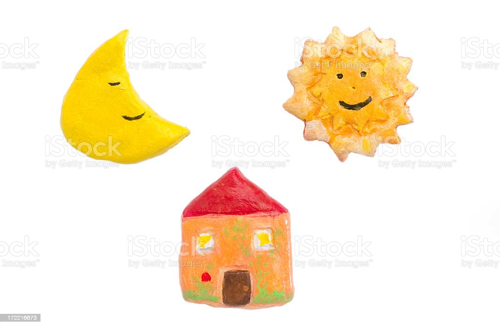 Home sun and moon royalty-free stock photo