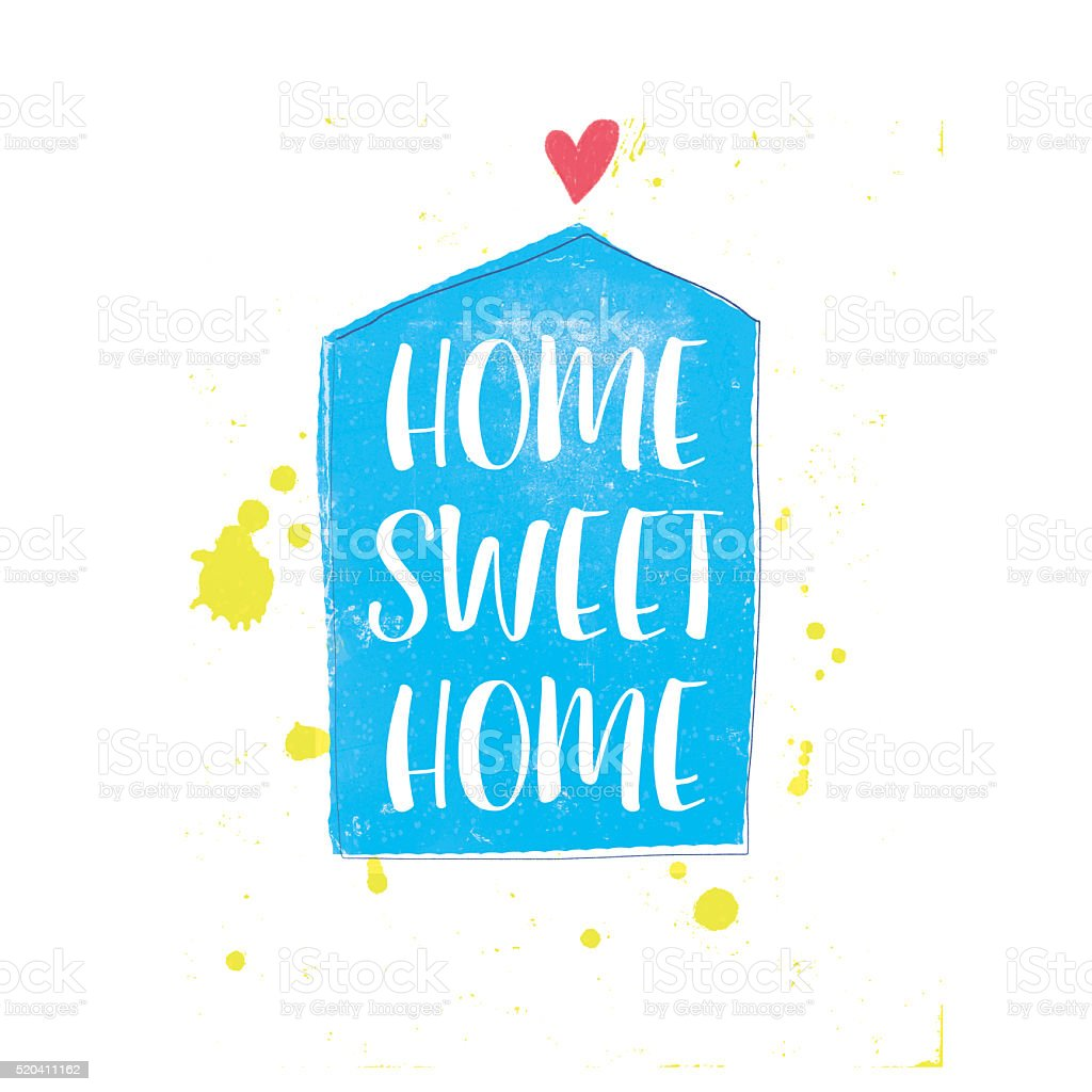 Home Sweet Home beautiful typography poster. stock photo