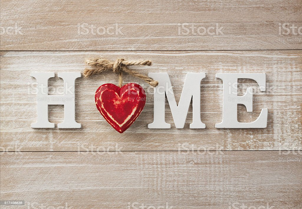 Home sweet home stock photo