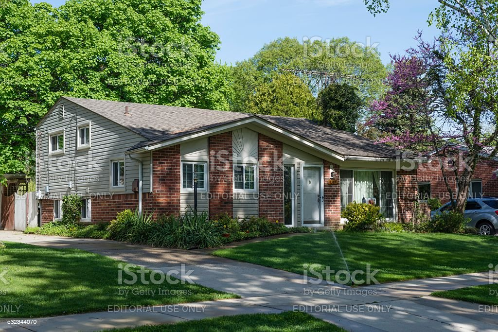 Home Sweet Home, The American Dream in Rochester, Michigan stock photo