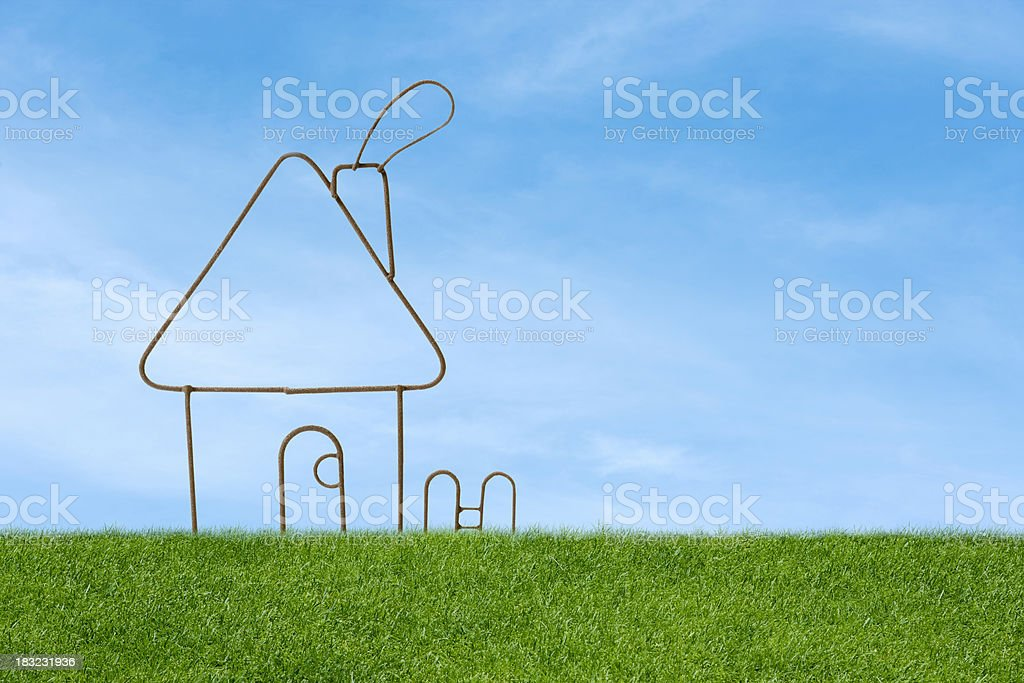 Home symbol royalty-free stock photo