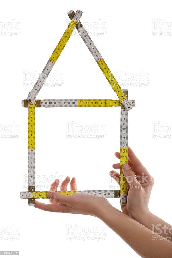 home symbol yardstick stock photo