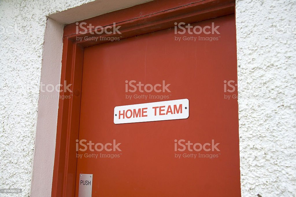 Home team dressing room royalty-free stock photo