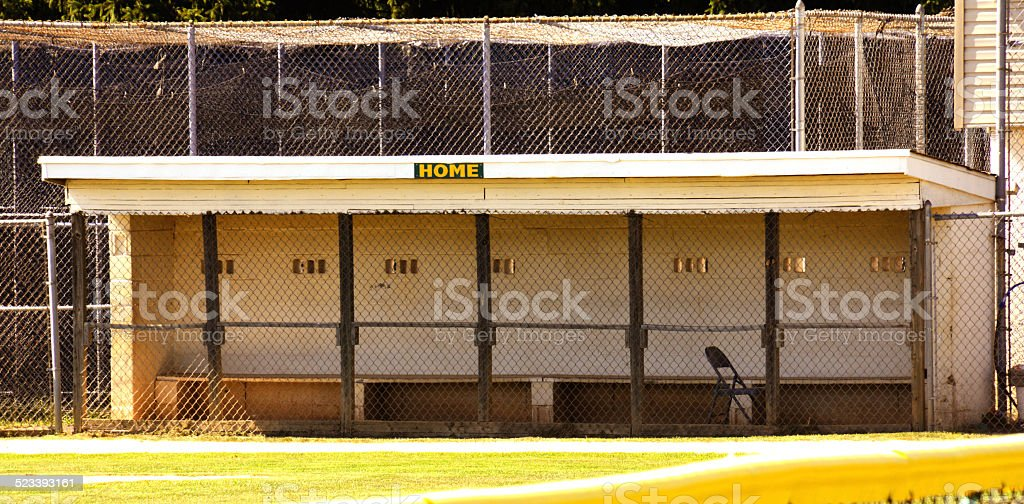 Home Team Dugout stock photo
