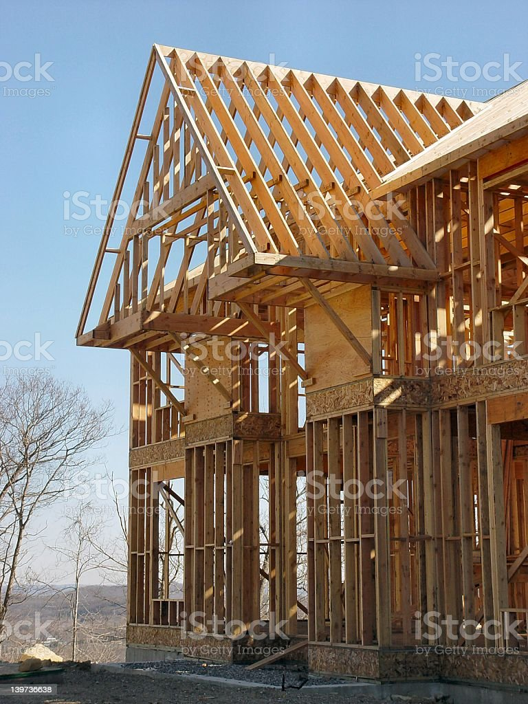 A home that is still under construction royalty-free stock photo
