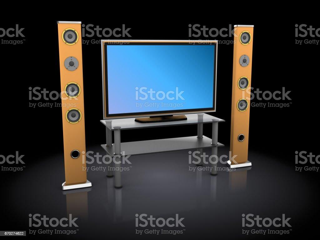 home thatre equipment stock photo