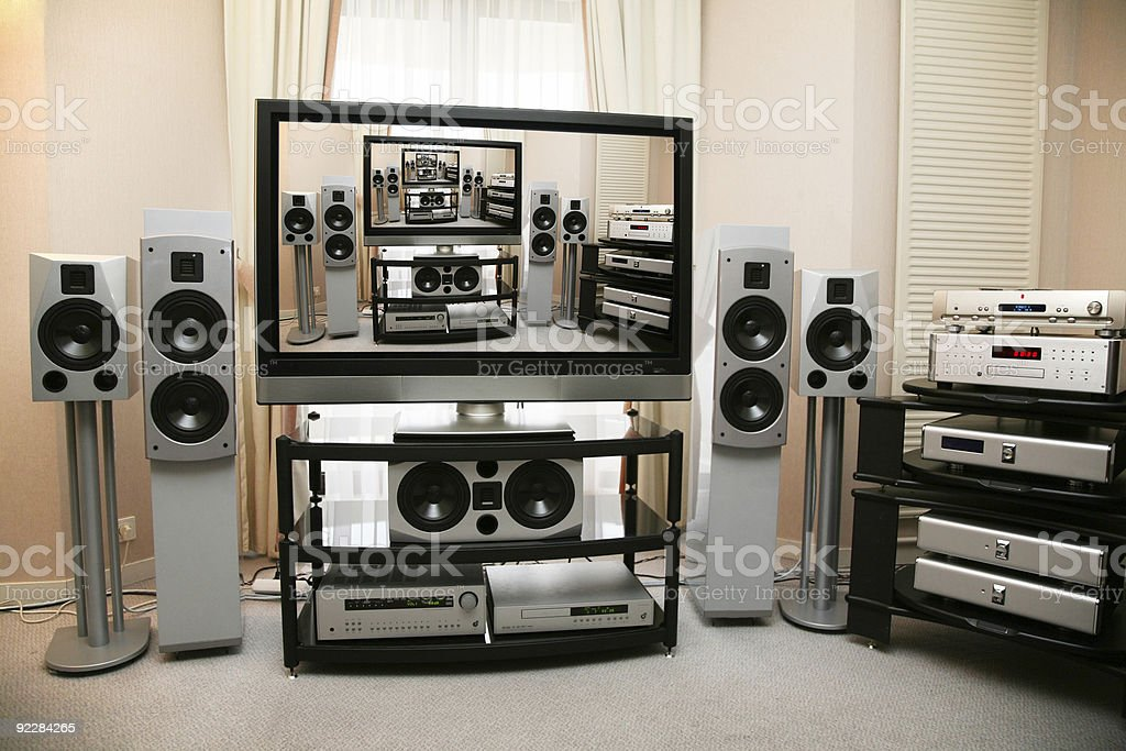 home theater 5 royalty-free stock photo