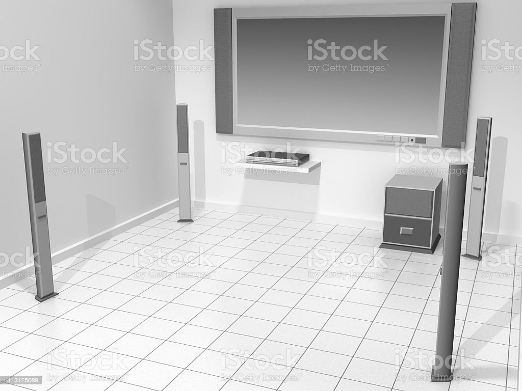 Home Theater Equipment (Rendering) royalty-free stock photo