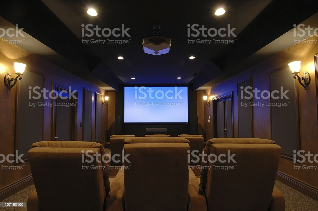 Home Theater Room royalty-free stock photo