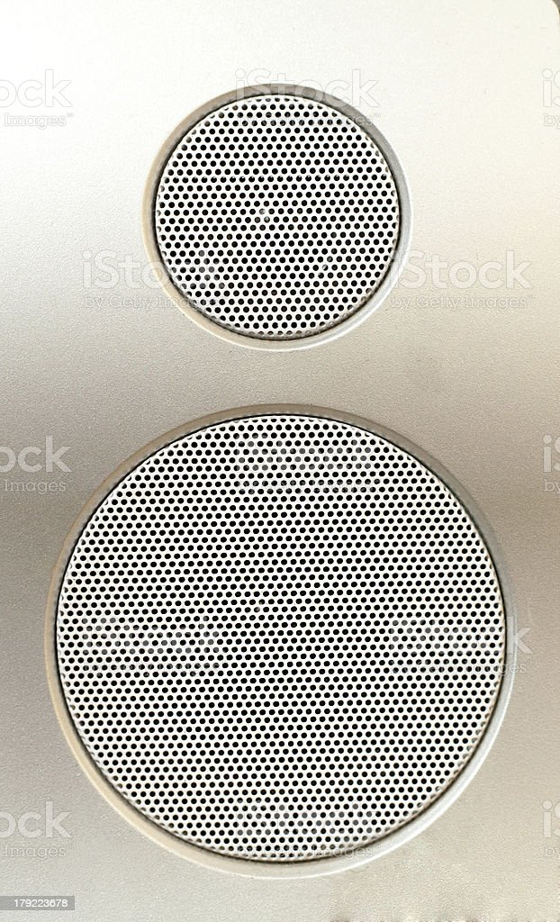 home theater speaker close-up stock photo