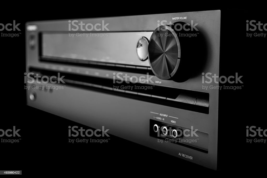 Home theater stereo receiver stock photo
