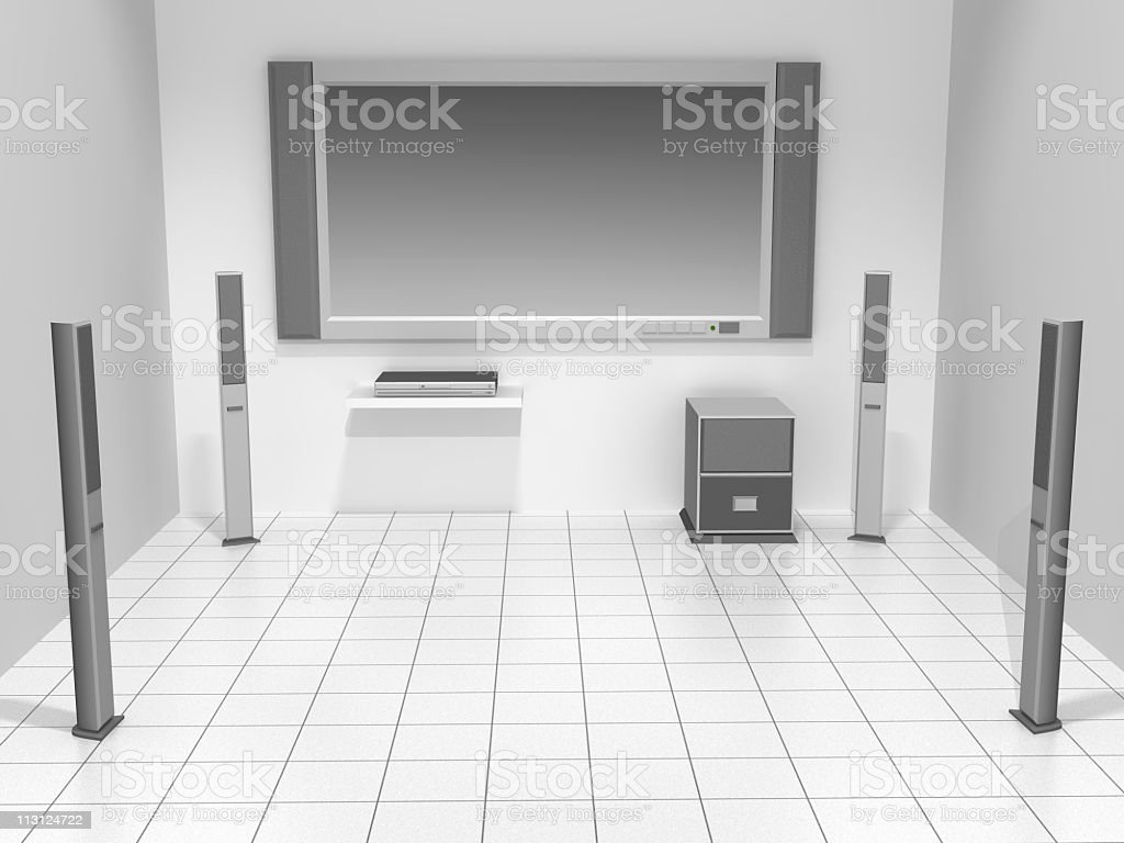 Home Theater System (Rendering) royalty-free stock photo