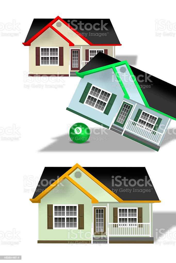 Home Tilted. stock photo