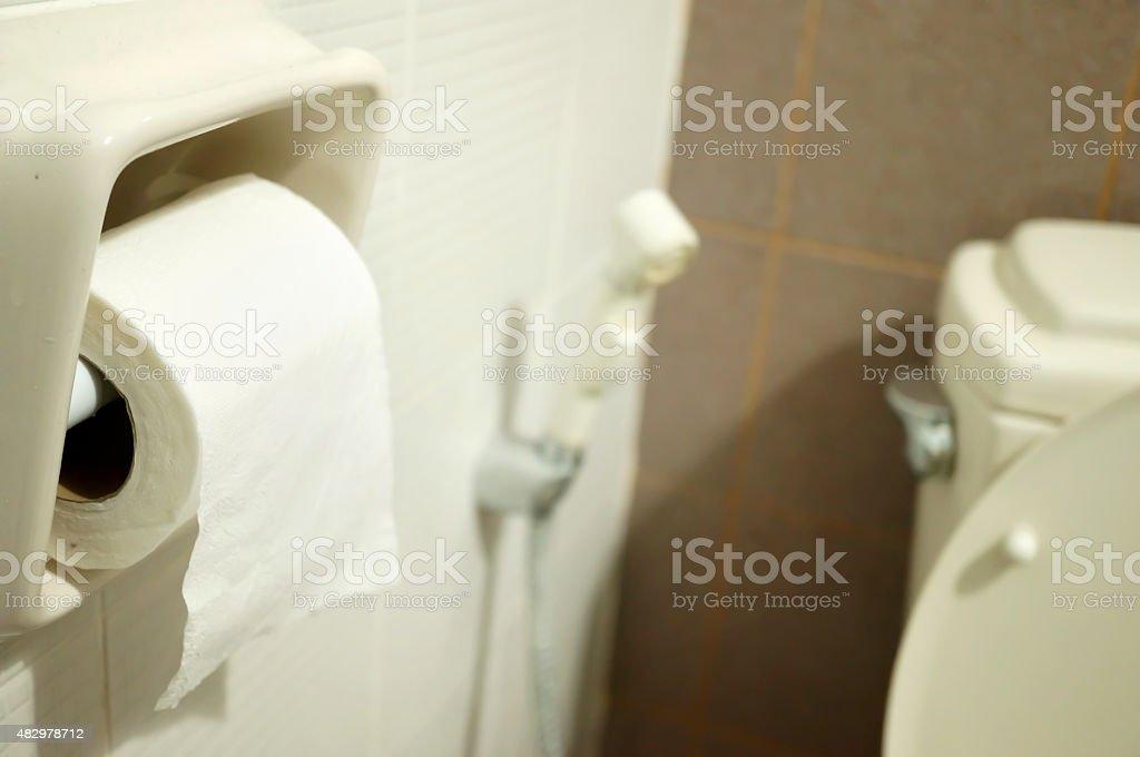 Home toilet stock photo