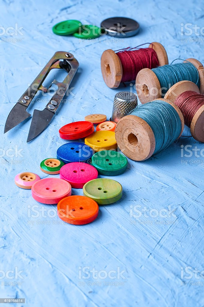 Home tool for sewing stock photo