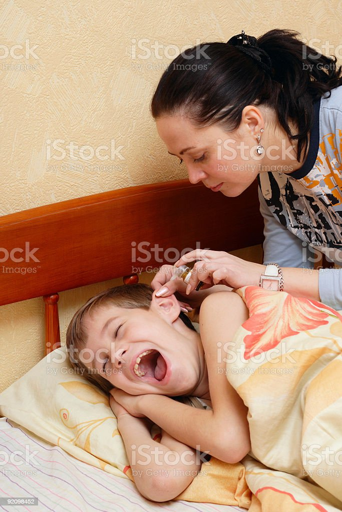 Home treatment royalty-free stock photo