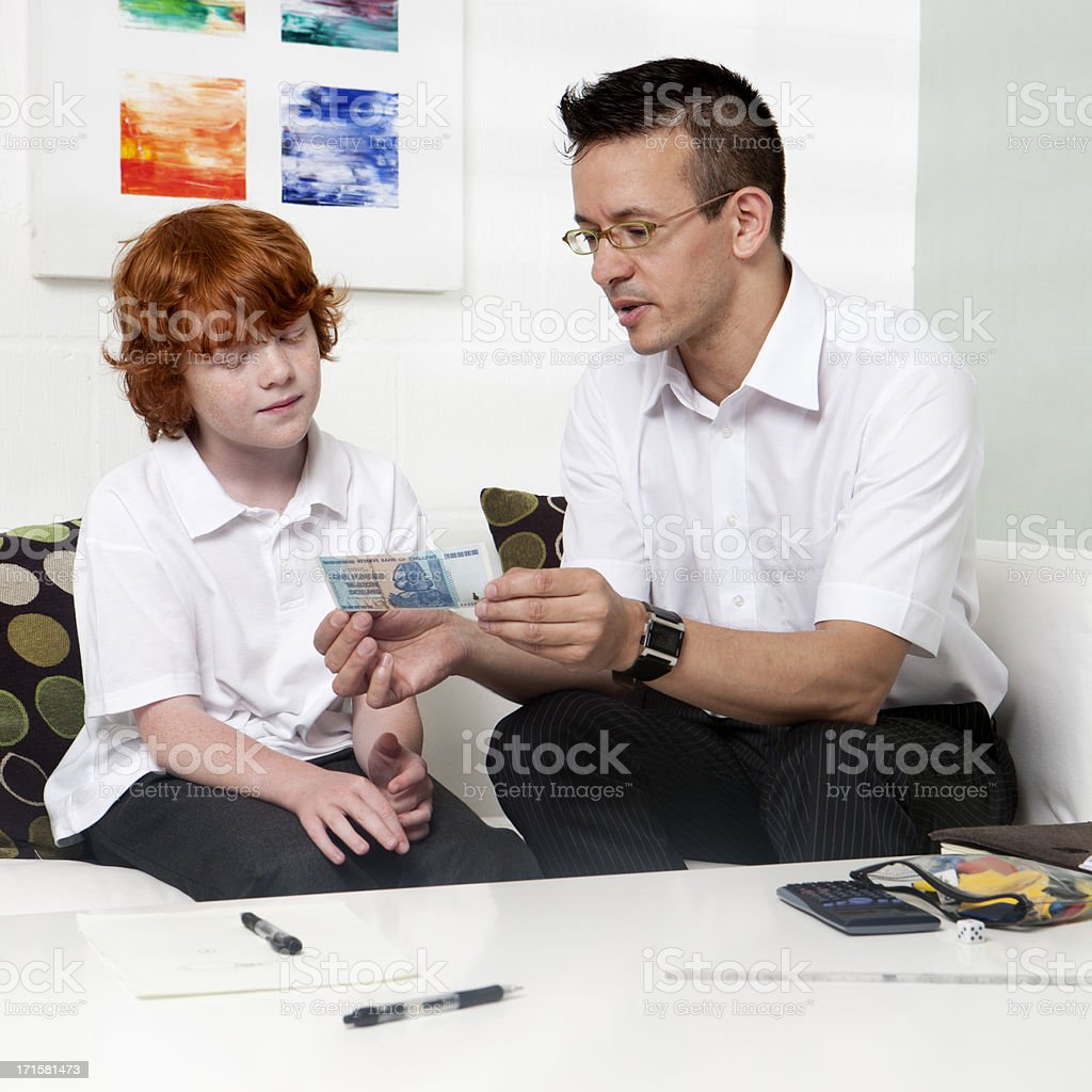 home tutor: financial studies royalty-free stock photo