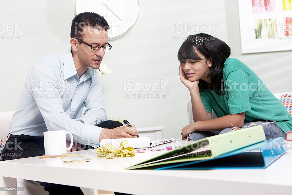 home tutor: individiual attention stock photo