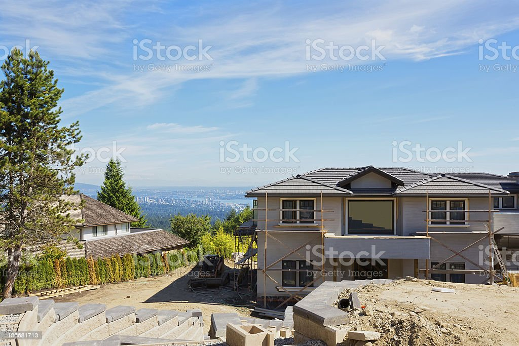 Home Under Construction in West Vancouver royalty-free stock photo