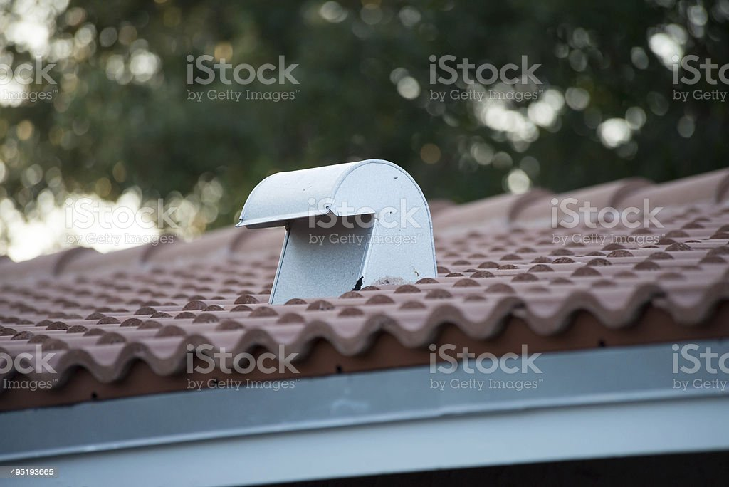 Home Vent on the Roof stock photo