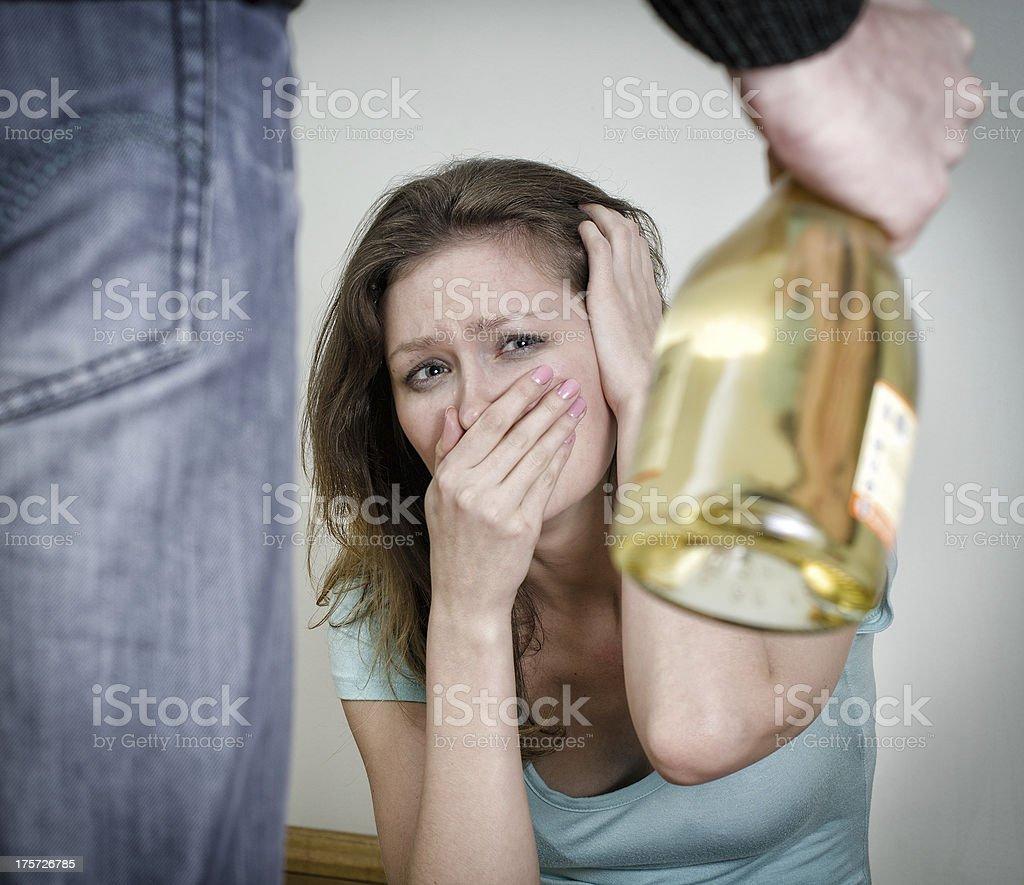 Home violence concept. stock photo