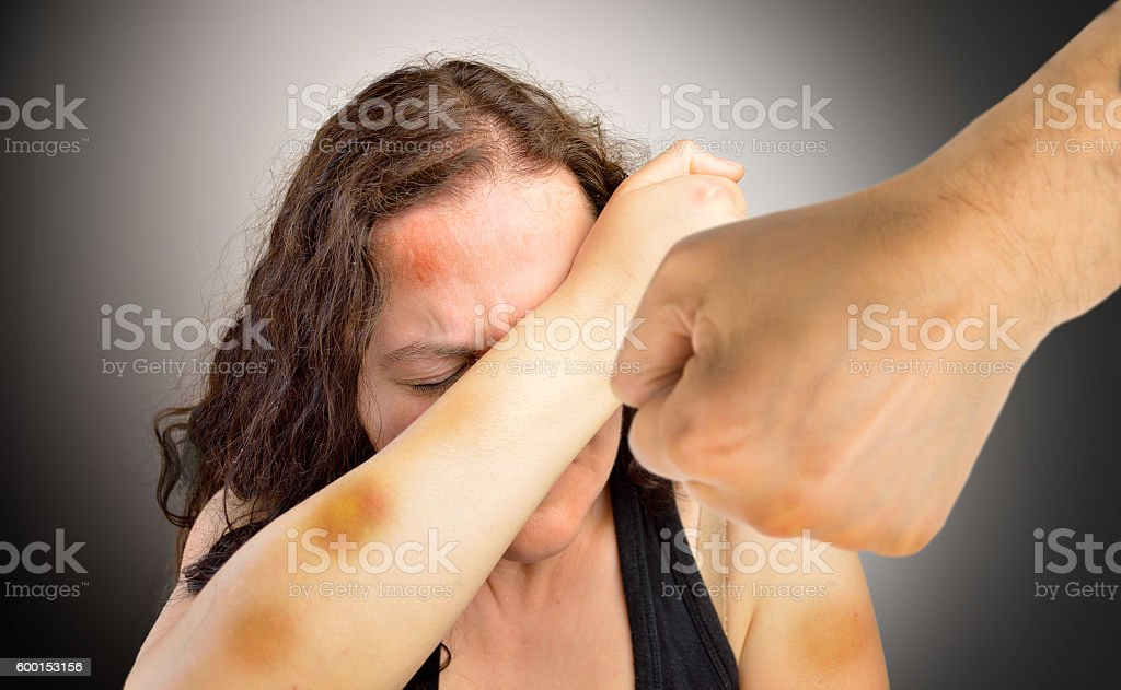 home violence stock photo