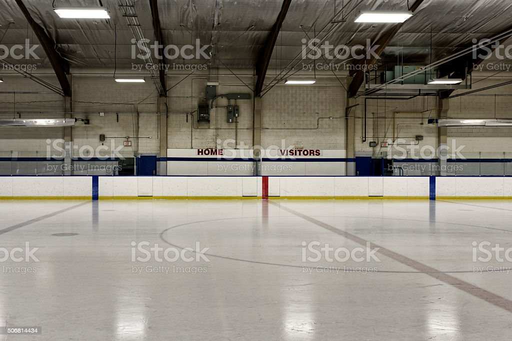 Home vs. Visitors ice arena stock photo