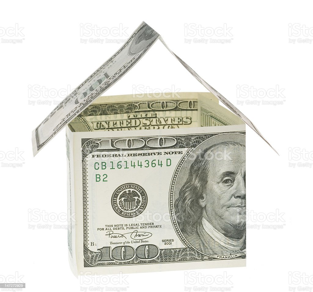home with dollars royalty-free stock photo