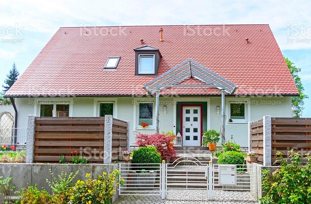 home with garden stock photo