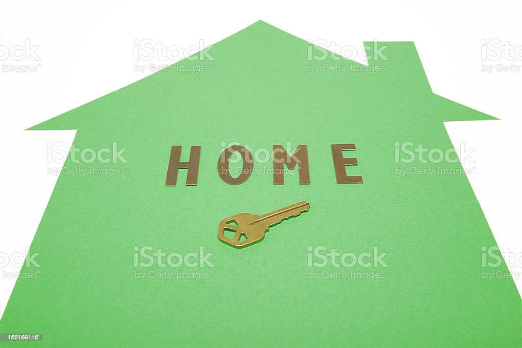 Home with Key royalty-free stock photo