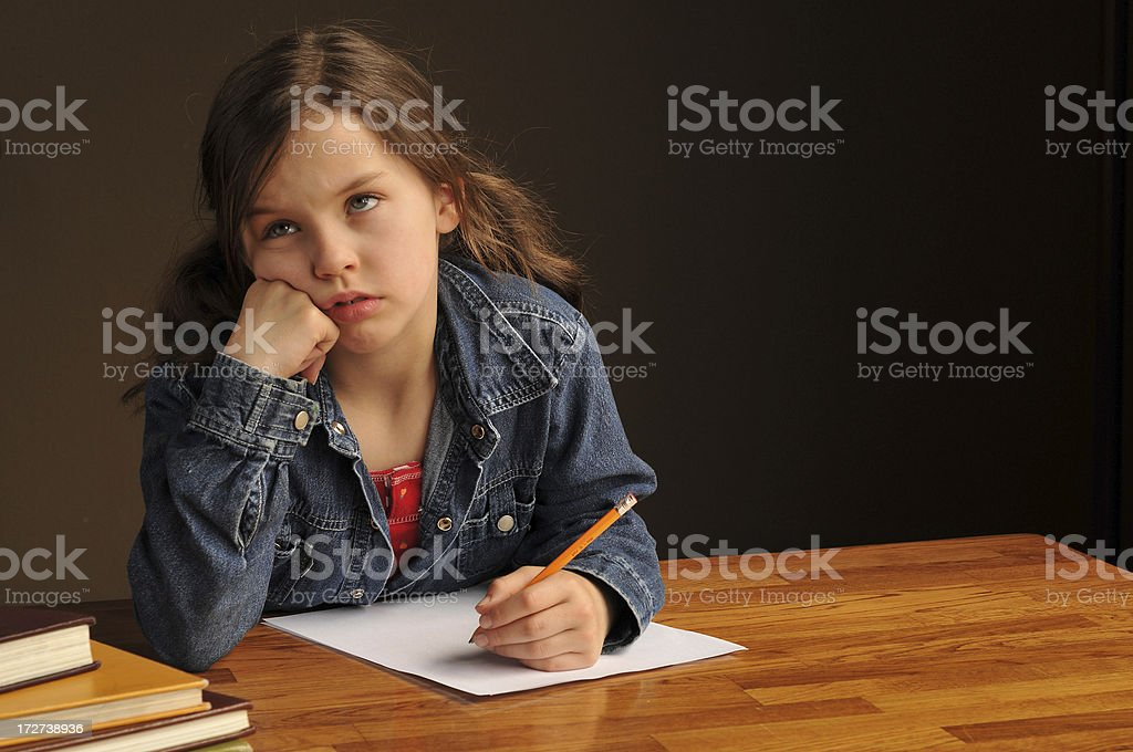 home work blahs royalty-free stock photo