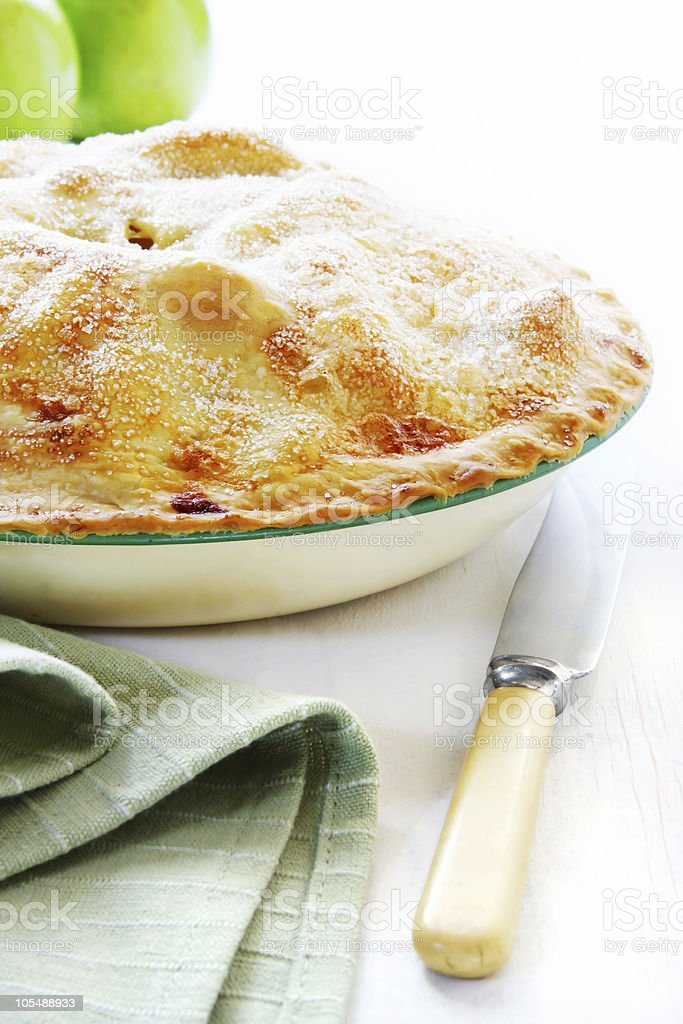 Home-baked Apple Pie royalty-free stock photo