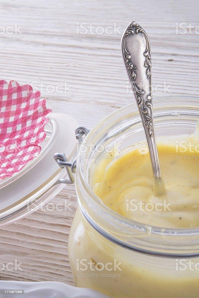 home-baked mayonnaise royalty-free stock photo