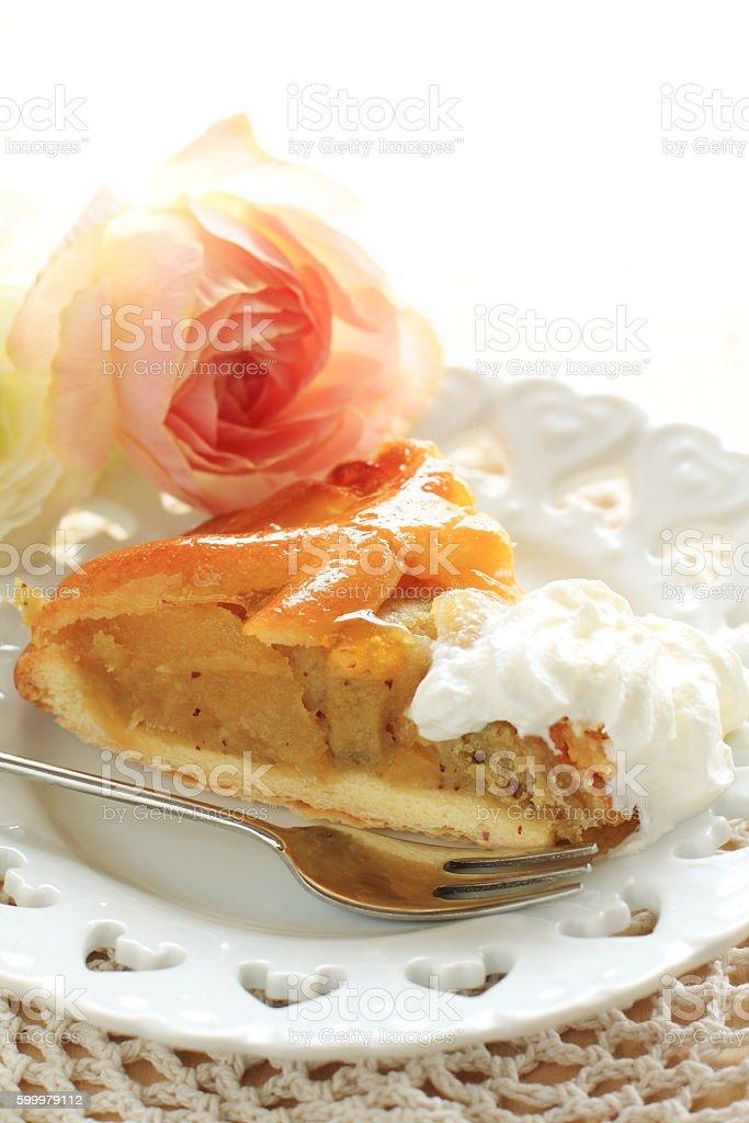 homebakery apple and sweet potato pie stock photo