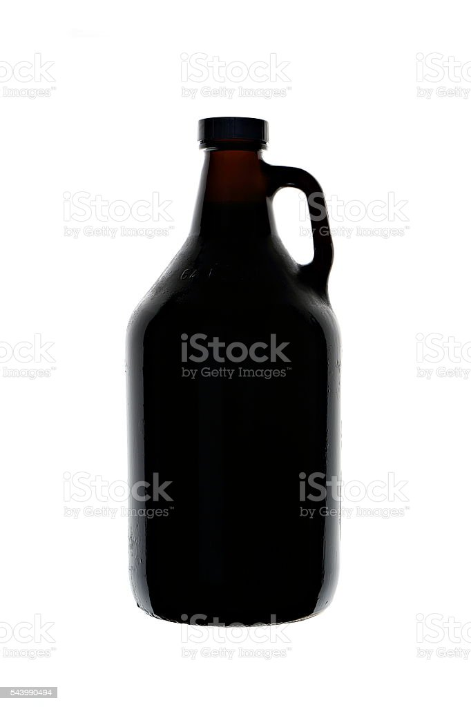 Homebrew Beer in Growler stock photo