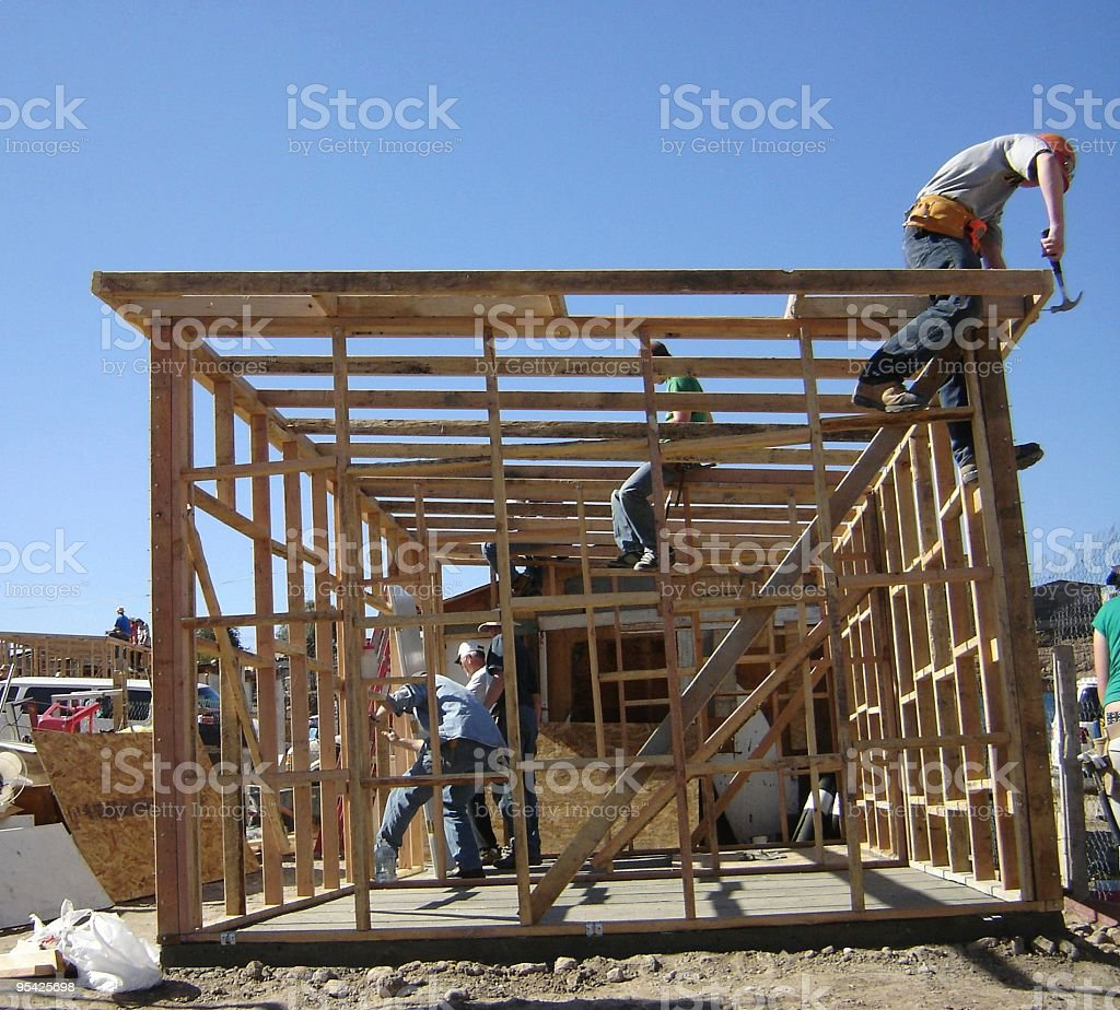 Homebuilding royalty-free stock photo