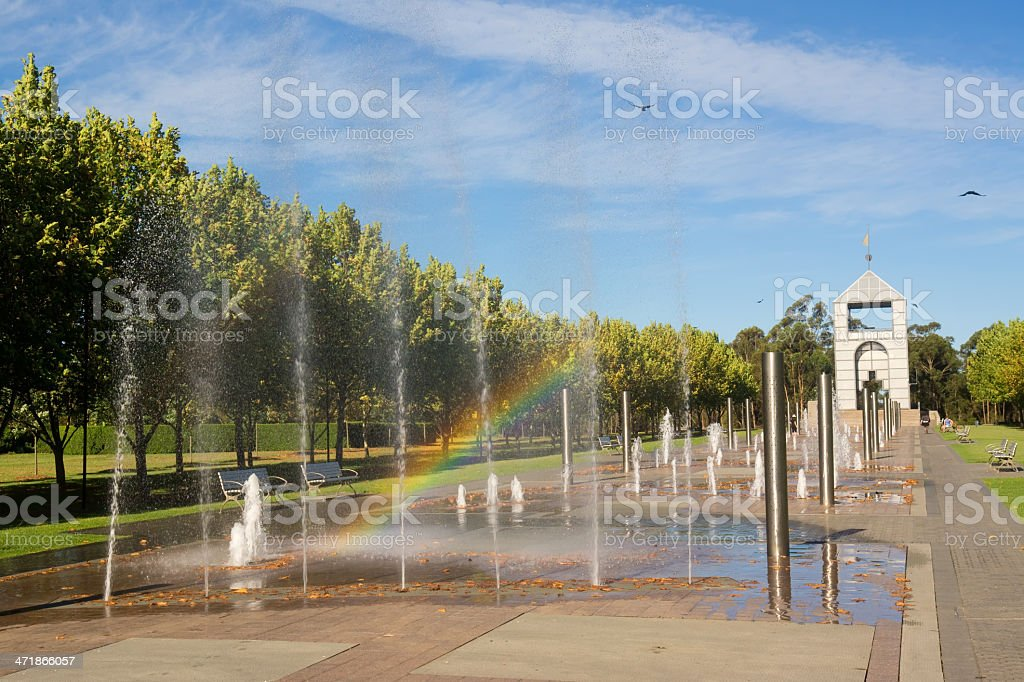 Australia Built Structure Fountain New South Wales Rainbow Homebush