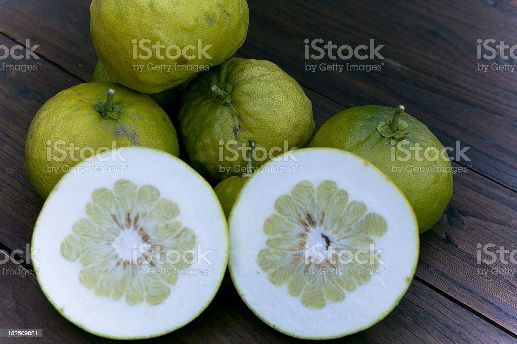 Homegrown Grapefruits stock photo