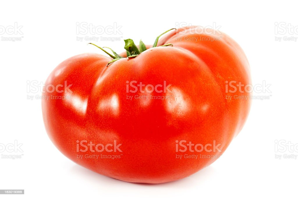 Homegrown Organic Red Tomato royalty-free stock photo