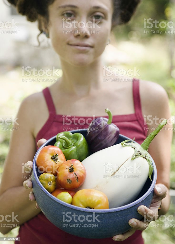 homegrown vegetables royalty-free stock photo