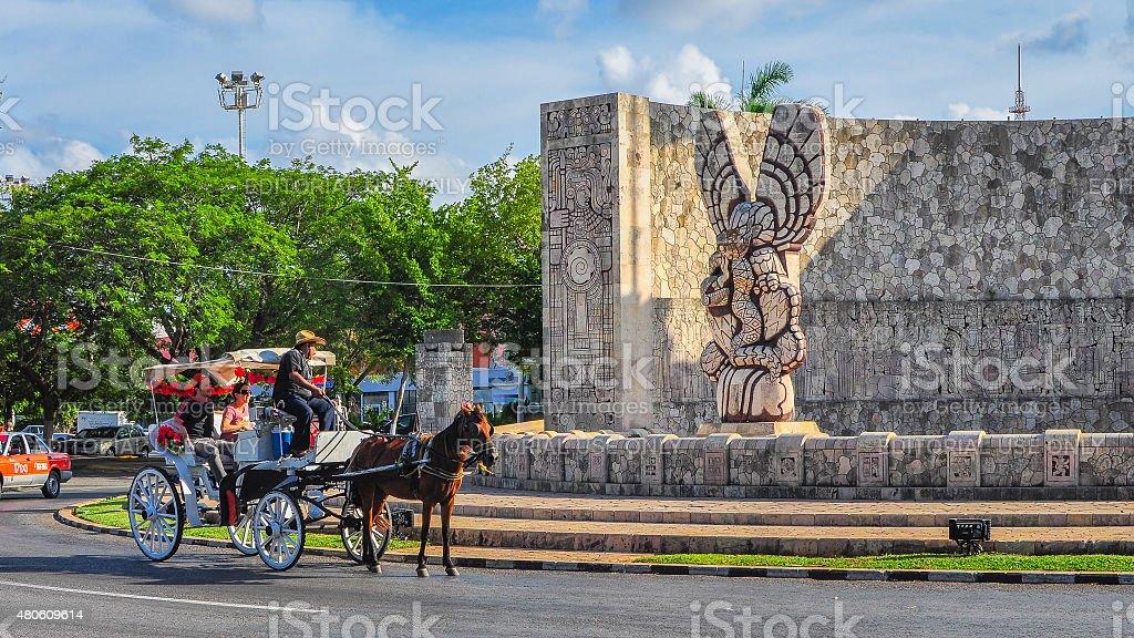 Homeland Monument, Merida, Mexico stock photo