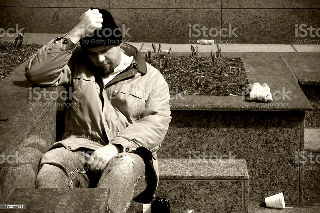 Homeless 2 royalty-free stock photo
